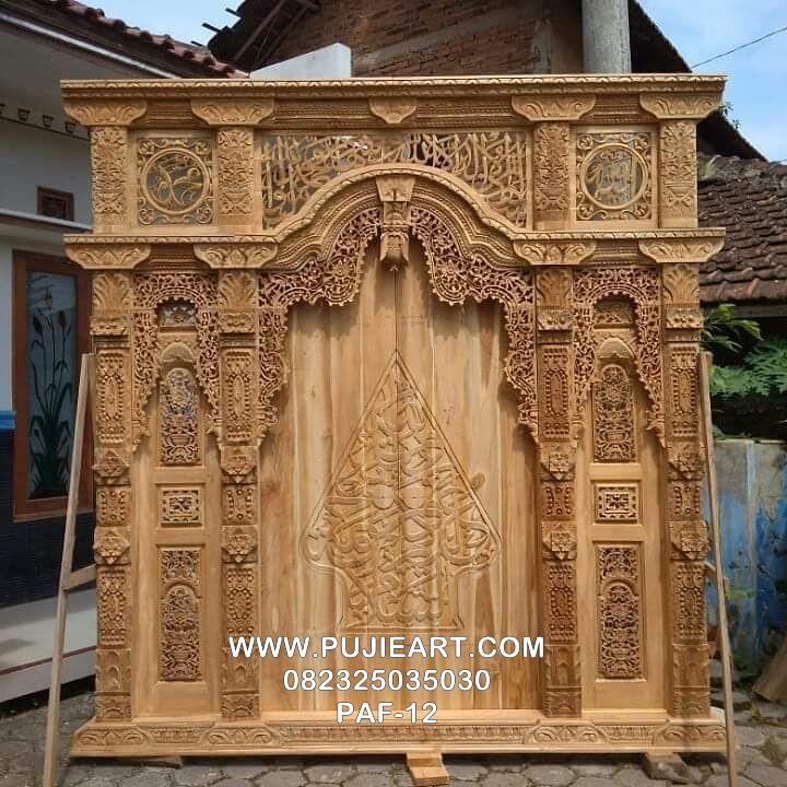 Pintu Gebyok Masjid Ukir Jati Jepara