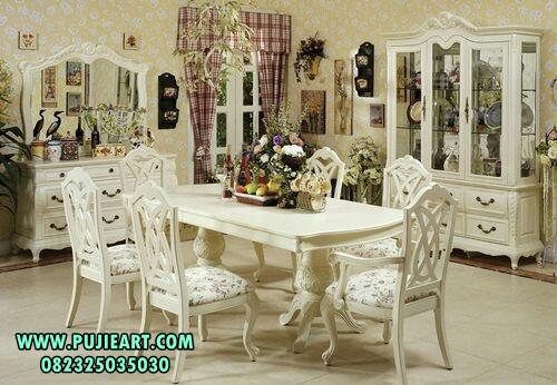 Meja Makan Minimalis Warna Putih