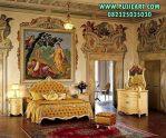 Set Tempat Tidur Gold Desain Classic