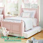 Tempat Tidur Anak Pink