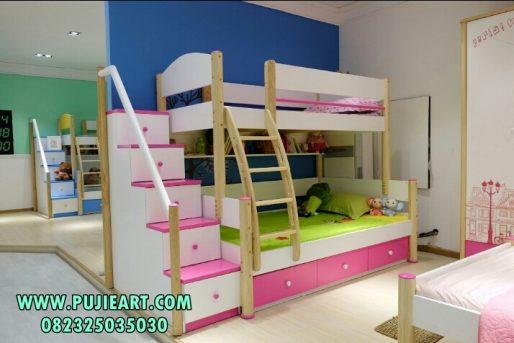 Tempat Tidur Tingkat Model Pelangi