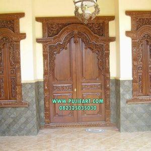 Pintu Rumah Gebyok Mewah Klasik