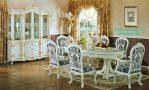 Set Meja Makan Klasik Putih