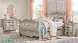 Set Tempat Tidur Anak Sorong Mewah