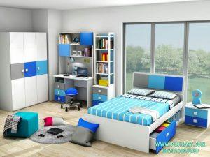 Set Tempat Tidur Sorong Anak Pelangi