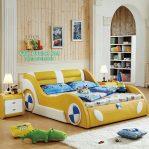 Tempat Tidur Anak Mobil Warna Kuning