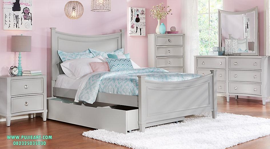 Tempat Tidur Anak Perempuan Model Sorong