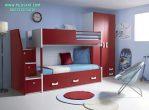 Tempat Tidur Tingkat Anak Warna Merah