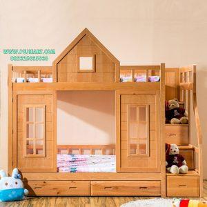 Tempat Tidur Tingkat Anak Kayu