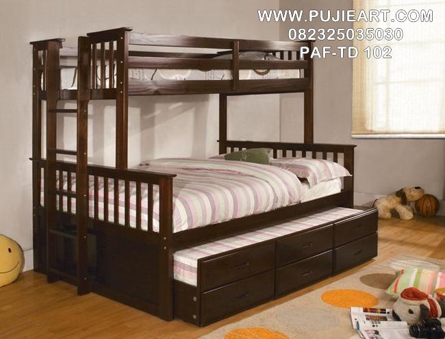 Tempat Tidur Anak Laki Laki Tingkat Jati