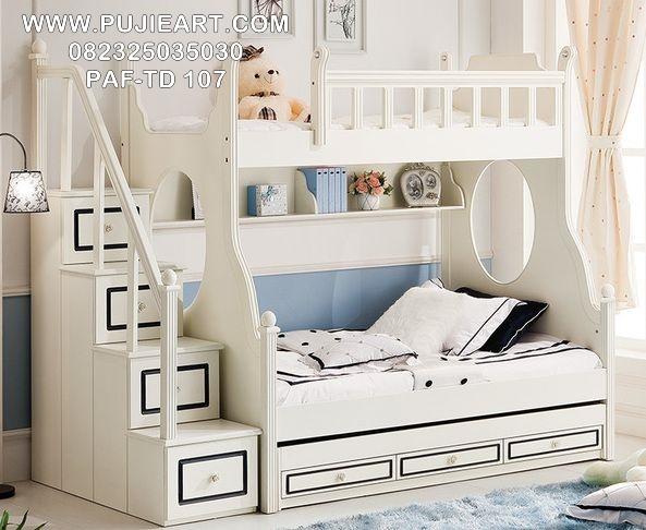 Tempat Tidur Tingkat Anak Perempuan Modern