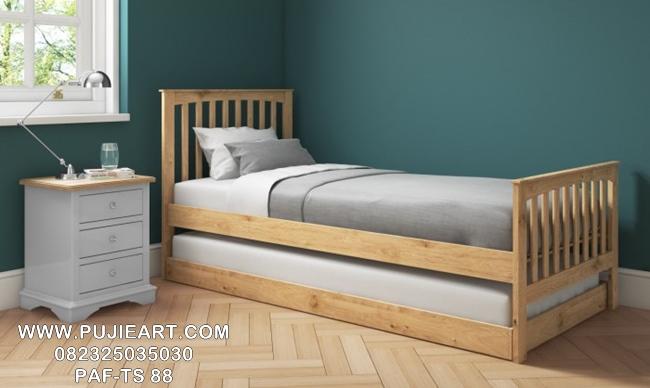 Jual Tempat Tidur Sorong Kayu Jati Murah