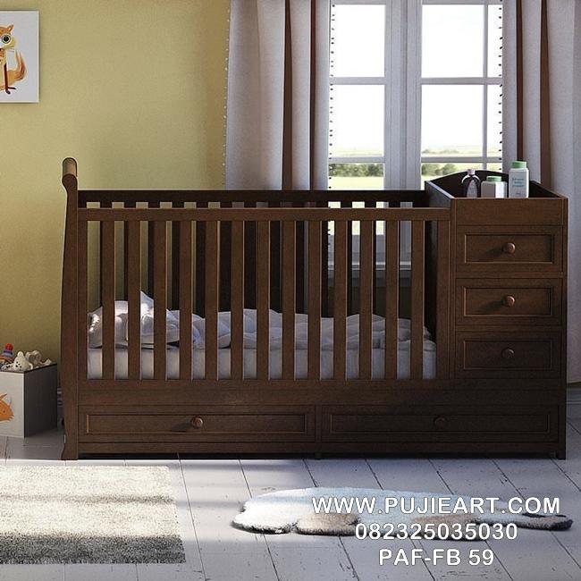 Jual Tempat Tidur Bayi Kayu