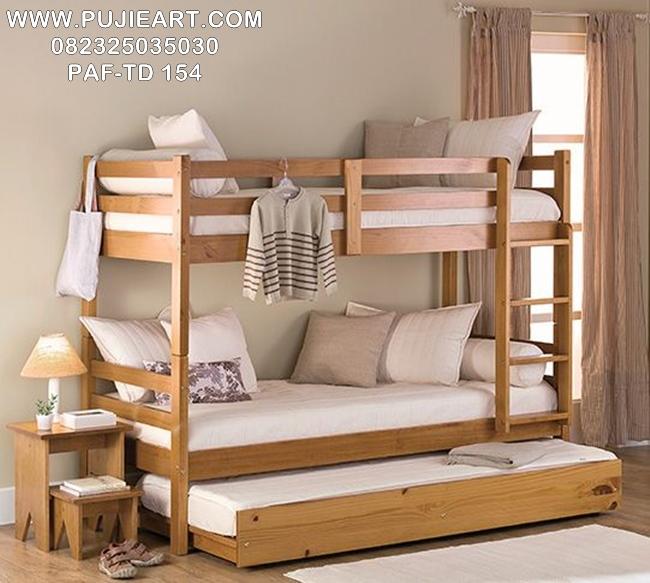 Tempat Tidur Anak Tingkat 2 Minimalis PAF-TD 154