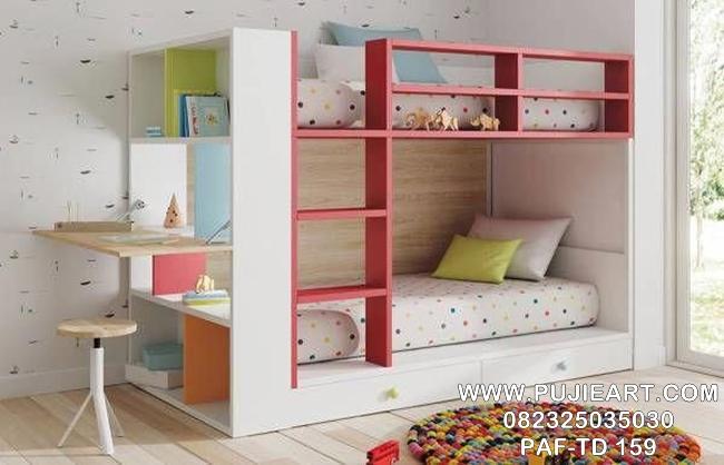 Tempat Tidur Anak Tingkat 2 Minimalis PAF-TD 159