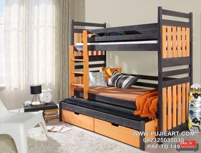 Tempat Tidur Tingkat 3 Minimalis PAF-TD 149