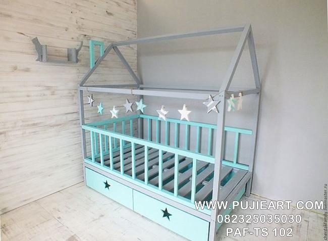 Tempat Tidur Sorong Anak Karakter PAF-TD 102