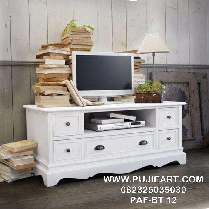 Meja Tv Minimalis Warna Putih PAF-BT 12