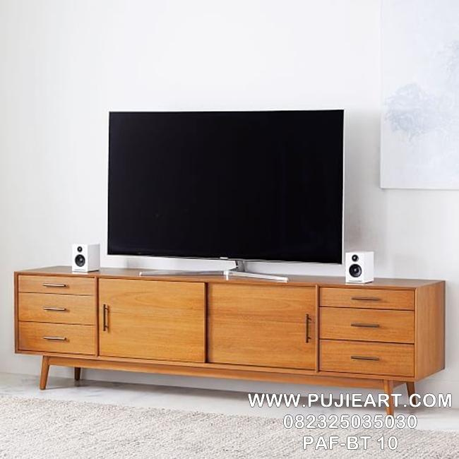Meja Tv Retro Jati Minimalis Modern
