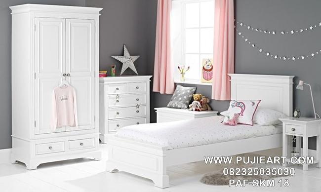 Set Kamar Anak Remaja Minimalis Putih PAF-SKM 18