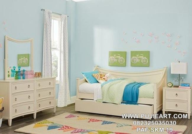 Set Kamar Anak Remaja Minimalis Putih PAF-SKM 19