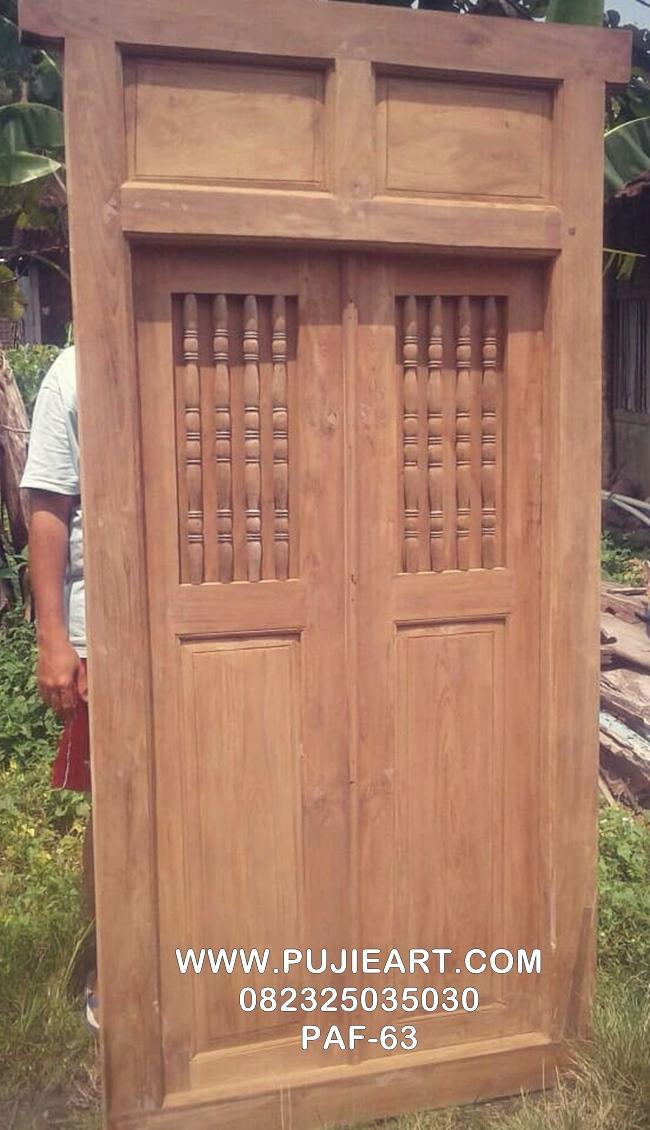 Pintu Antik Kuno Kayu Jati PAF-63