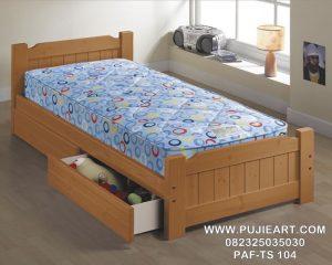 Tempat Tidur Anak Laci Jati