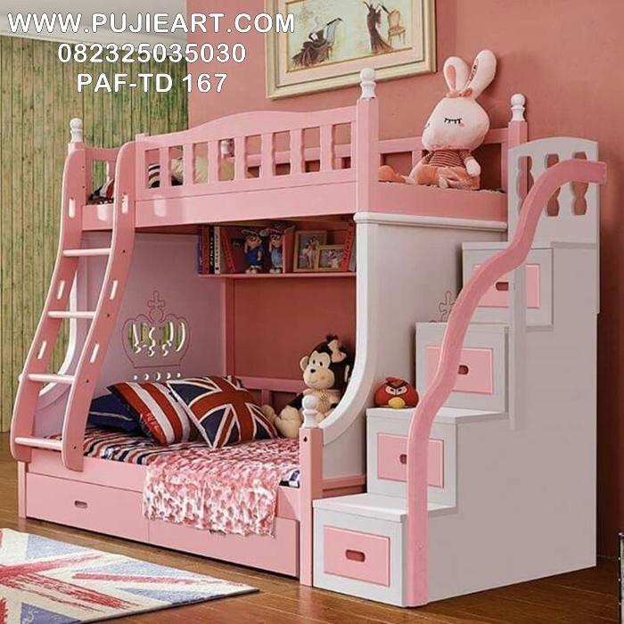 Tempat Tidur Anak Perempuan Bertingkat PAF-TD 167