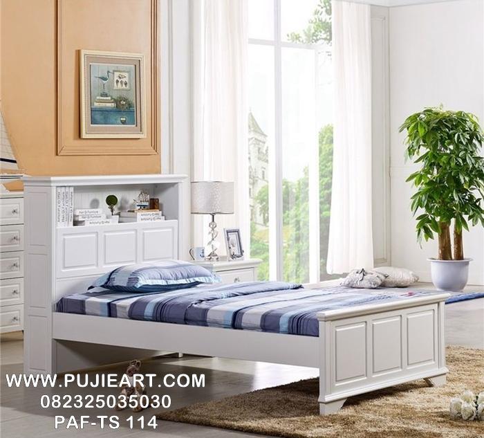 Tempat Tidur Anak Perempuan Modern Warna Putih PAF-TS 114