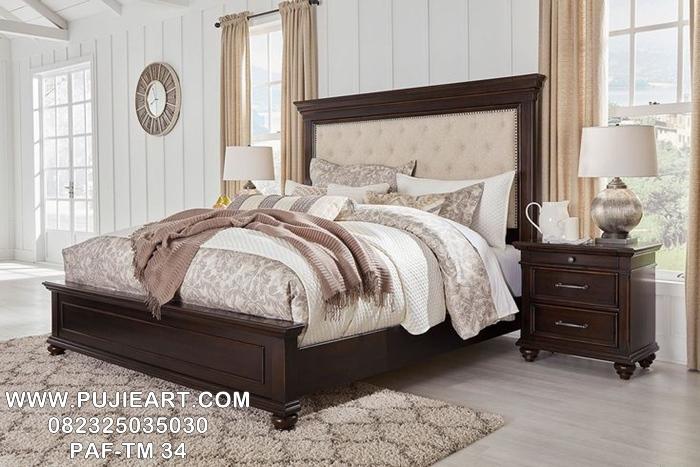 Tempat Tidur Modern Klasik Kayu Jati, Ranjang Tidur Modern Klasik Kayu Jati