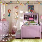 Set Tempat Tidur Anak Minimalis Warna Pink