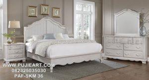 Set Tempat Tidur Minimalis Modern Putih