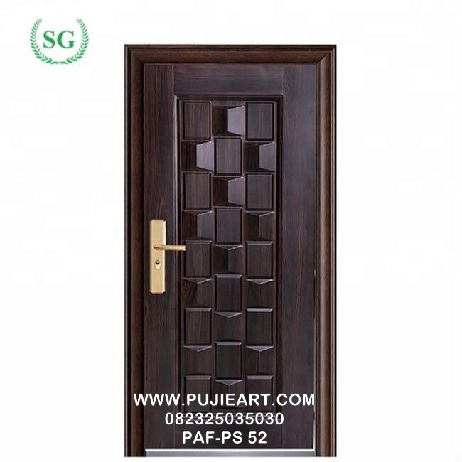 Desain Pintu Kamar Jati Ukir Anyaman Bambu Minimalis Murah