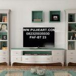 Meja Tv Minimalis Kayu Cat Duco Warna Putih