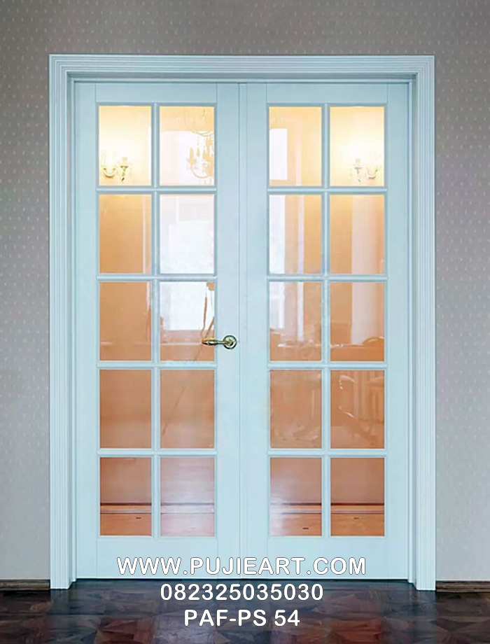 Jual Pintu Kamar Minimalis Modern Warna Putih Dengan Kaca