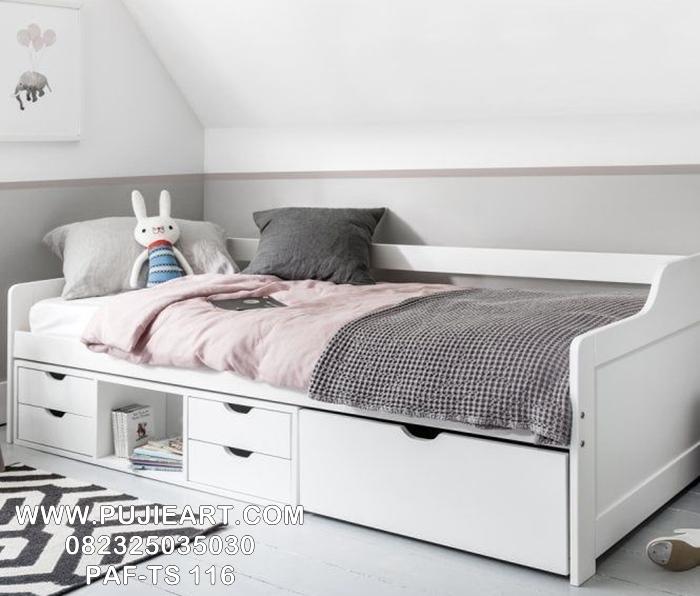 Kasur Tempat Tidur Anak Sorong Laci Modern