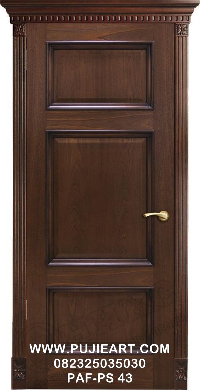 Pintu Jati Minimalis Modern Elegan