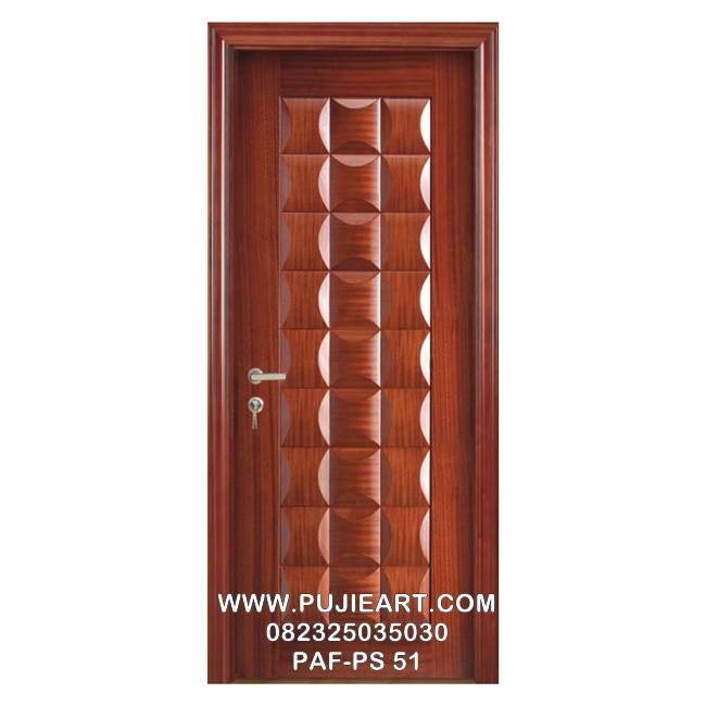 Pintu Jati Ukir Anyaman Bambu Minimalis Murah