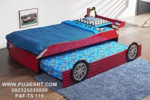 Tempat Tidur Anak Sorong Karakter Mobil Terbaru