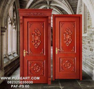 Kusen Pintu Kayu Jati Ukir Mewah Klasik