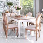 Set Meja Makan Minimalis Warna Putih