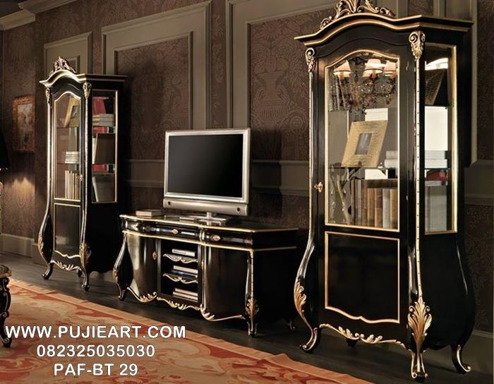 Bufet Tv Antik Ukir Klasik Elegan