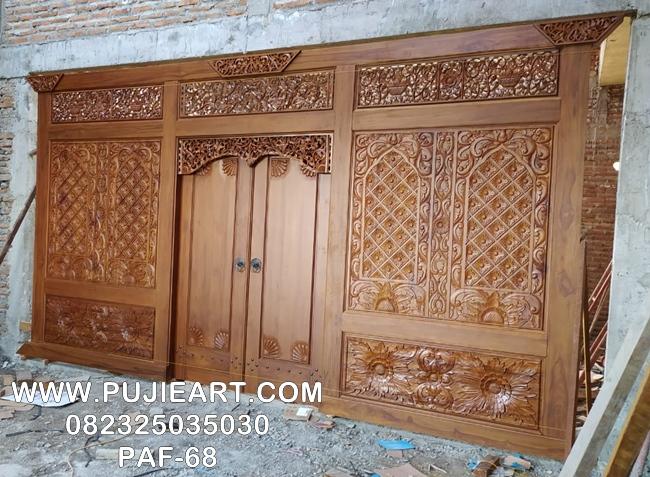 Desain Gebyok Jawa Kuno Antik Jati