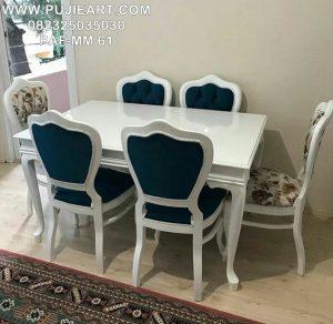 Meja Makan Minimalis 6 Kursi Warna Putih