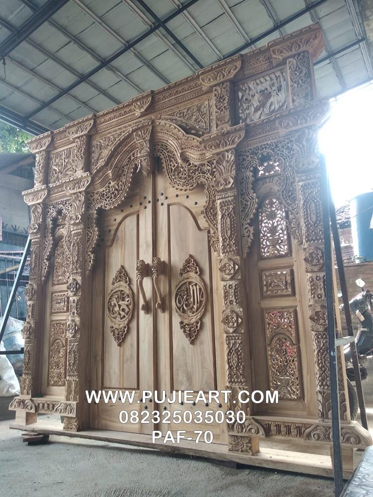 Desain Pintu Gebyok Lafadz Allah Kayu Jati