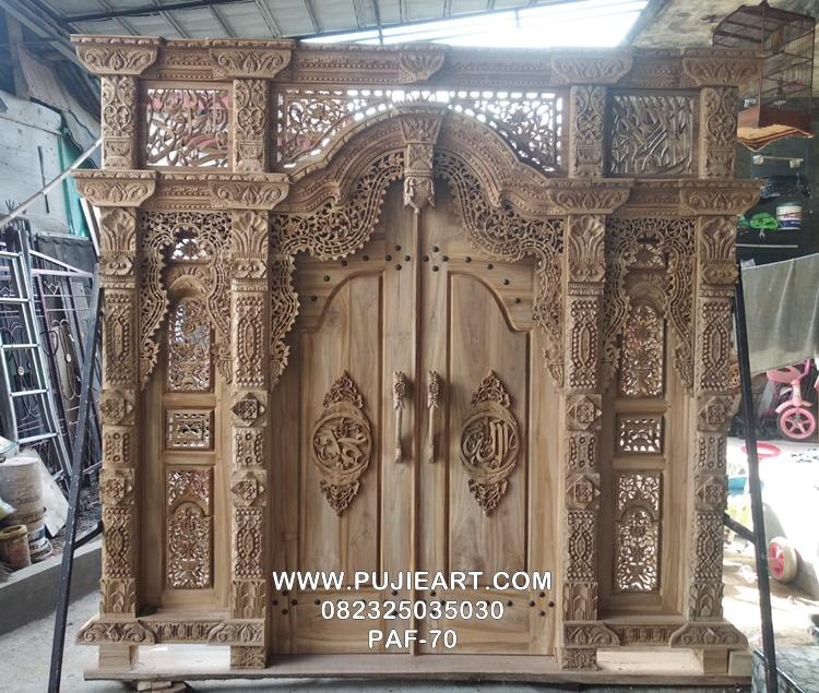 Pintu Gebyok Lafadz Allah Kayu Jati